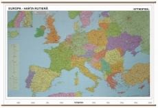 Europa Harta Rutiera 140 X 100 Cm Preturi