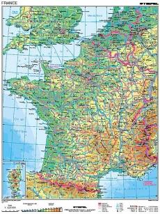 Franta Harta Fizico Geografica Franceza Preturi