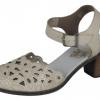 Pantofi dama din piele alb-crem Rieker