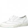 Pantofi dama albi din piele Tamaris