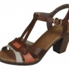 Sandale dama din piele brown mix Rieker