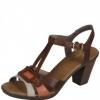 Sandale din piele dama Rieker bown perle