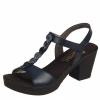 Sandale din piele dama Rieker navy sweet
