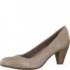 Pantofi dama din piele bej-pepper Tamaris