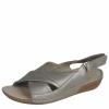 Sandale din piele dama Rieker silver
