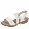 Sandale din piele dama Rieker cu bareta elastica