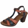 Sandale din piele dama Rieker orange mix