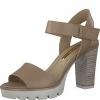 Sandale dama din piele cu platforma Tamaris