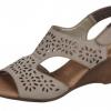 Sandale dama din piele stafford Rieker