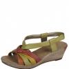 Sandale dama Rieker din piele multicolore
