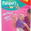 Scutece Pampers Active Girl, nr. 4, 9 - 14 kg, 52 bucati