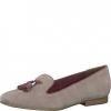Pantofi dama din piele intoarsa bej Tamaris