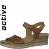 Sandale din piele dama Tamaris brandy