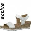 Sandale din piele dama Tamaris white