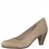 Pantofi dama din piele bej-nude Tamaris