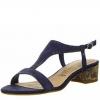 Sandale din piele dama Tamaris bleumarin