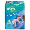 Scutece Pampers Active Baby, Nr. 4+, 9 - 20 kg