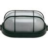 Lampa de exterior cu grila ovala (max. 60W) negru