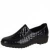 Pantofi dama Rieker negri din piele lacuita