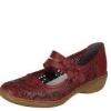 Pantofi dama rosii din piele cardinal Rieker